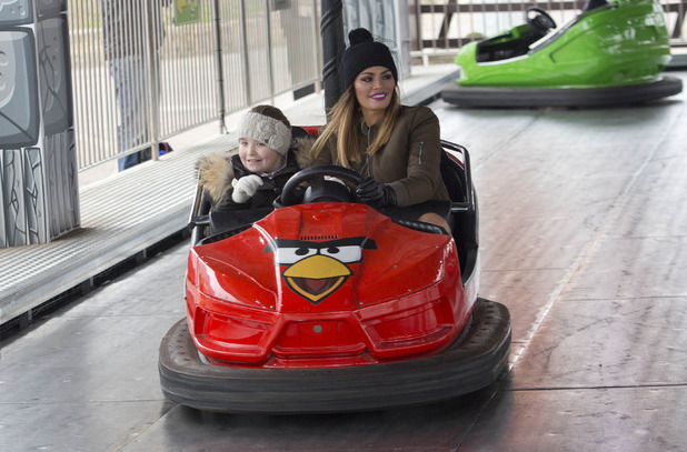 Chloe Sims and her daughter Madison spend Mother's Day at Thorpe Park - 15 March 2015.