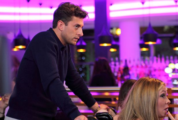 James Arg Argent bumps into Fran Parman, Diags, Jessica Wright, Dan Edgar - TOWIE filming 18 March