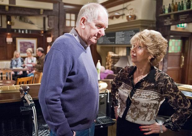 Emmerdale, Doug confides in Diane, Mon 23 Mar