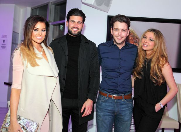 Jessica Wright, Dan Edgar, Fran Parman and James 'Diags' Bennewith double date, TOWIE filming 18 March