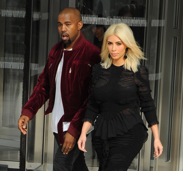 Kanye West and wife Kim Kardashian at Paris Women Fashion Week Fall - 11/3/2015.