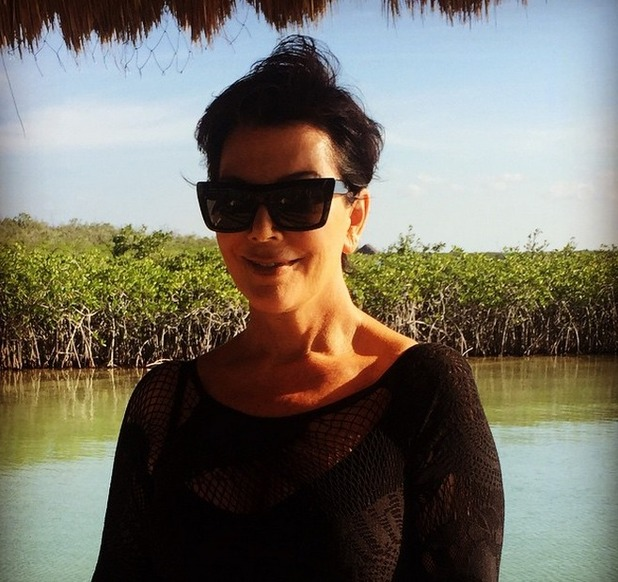Kris Jenner in Mexico with Melanie Griffith, 17 March 2015