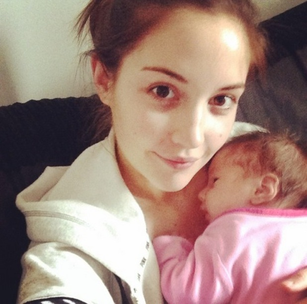 Jacqueline Jossa shares new photo with baby Ella, Instagram 16 March