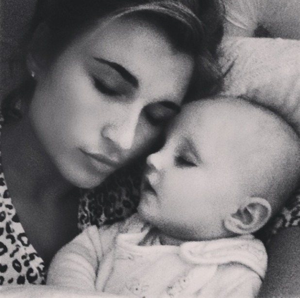 Billie Faiers spends her Saturday night in with Nelly, 21 March