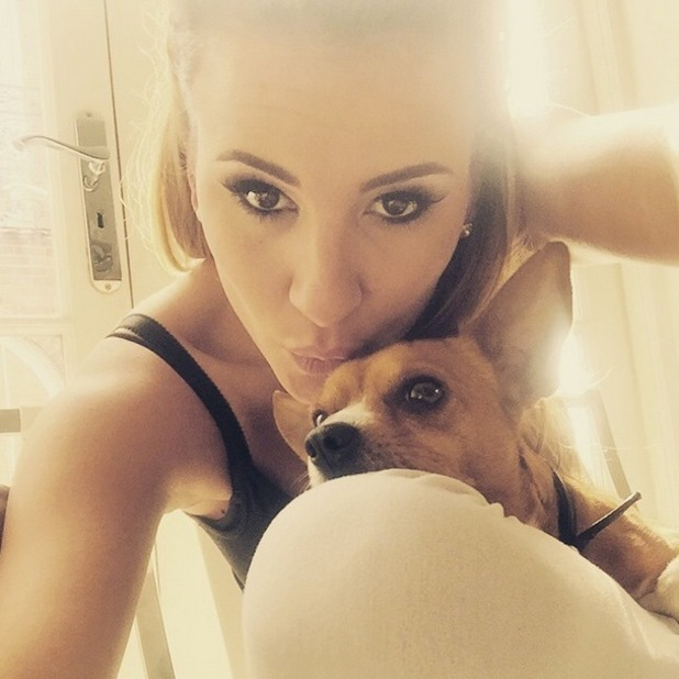 Georgia Kousoulou takes a selfie with pet dog Ralph, Instagram 17 March