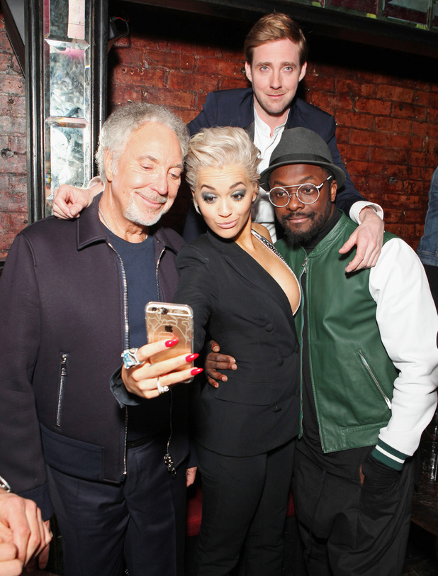 The Voice UK coaches at a secret gig at The Scotch - 18 March 2015.