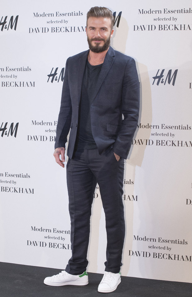 David Beckham presents the Modern Essentials collection by H&M in Madrid - 03/20/2015.