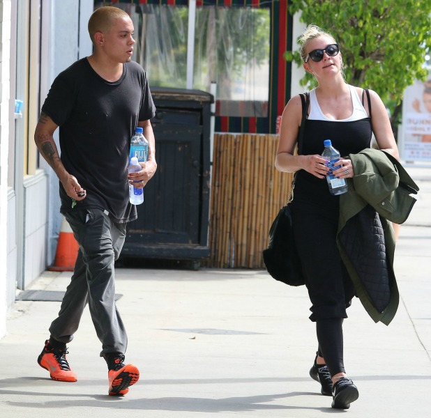 Ashlee Simpson and Evan Ross were spotted leaving workout together in Studio City , CA. 17 March 2015