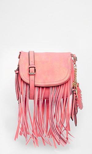 Asos pink tassel handbag £35