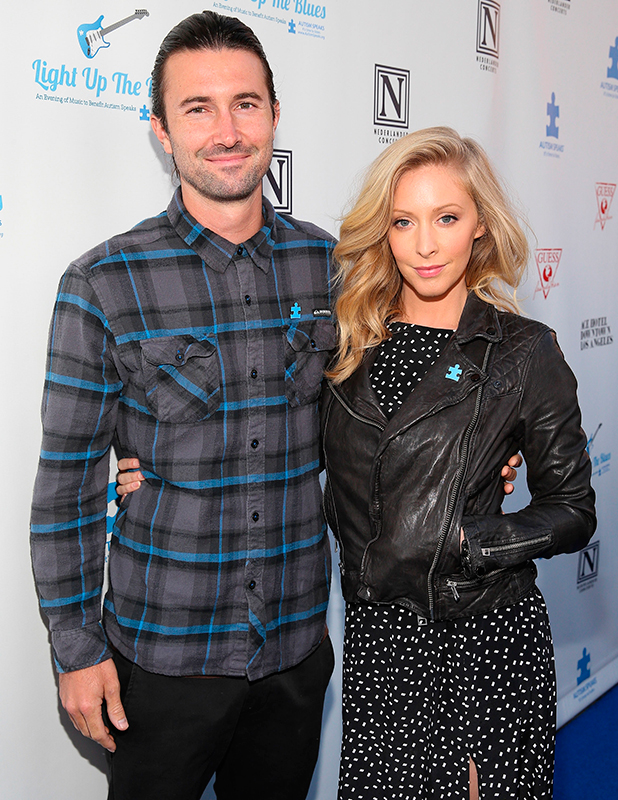 Musicians Brandon Jenner (L) and Leah Felder attend the 2nd Light Up The Blues Concert - An Evening Of Music To Benefit Autism Speaks at The Theatre At Ace Hotel on April 5, 2014 in Los Angeles, California. (Photo by Imeh Akpanudosen/Getty Images for LUTB)