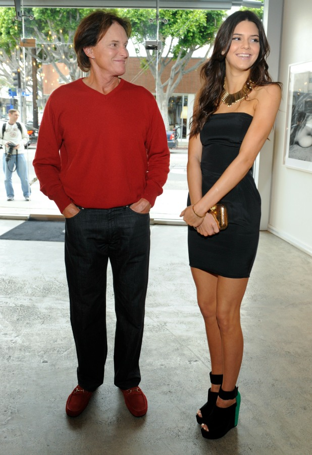 Bruce Jenner and Kendall Jenner attend the Nomad Two Worlds and Russell James Private Reception at Guy Hepner Gallery on April 24, 2013 in Hollywood, California.