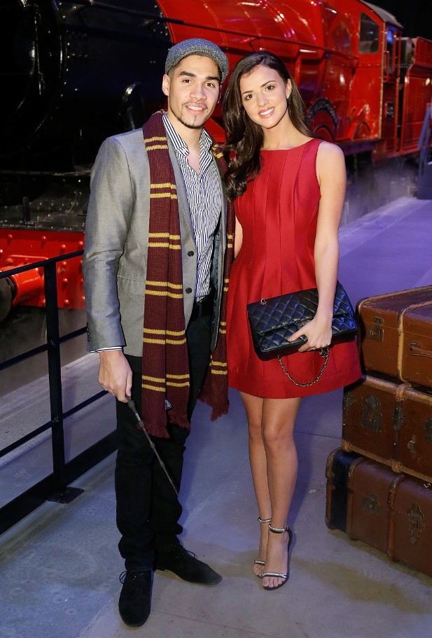 Louis Smith and Lucy Mecklenburgh at Harry Potter Studio's Hogwarts Express Launch (17/03/15)