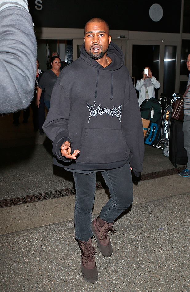 Kanye West arrives at Los Angeles International Airport (LAX) 13 March 2015