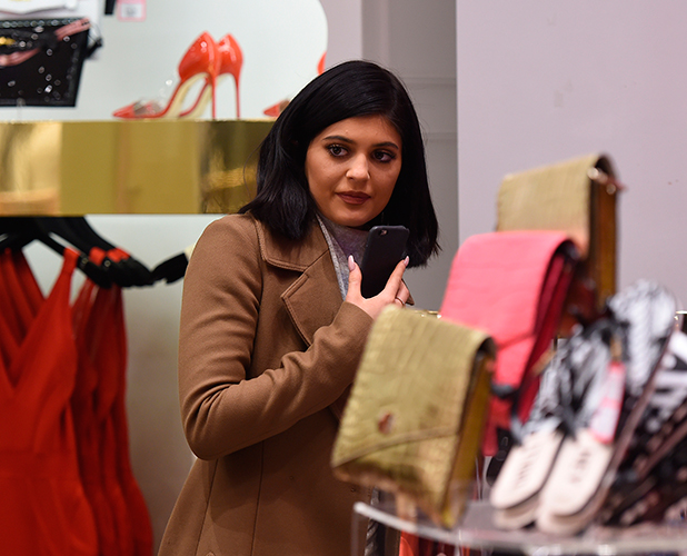 Kylie Jenner at Westfield Shopping Centre, Shepherds Bush, London, 14 March 2015