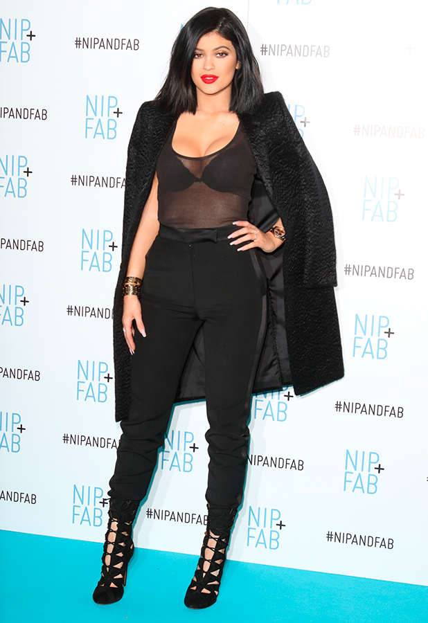 Kylie Jenner announced as new Global ambassador for Nip FAB at photocall in Vue Cinema, Westfield Shopping Centre, Shepherds Bush, London, 14 March 2015