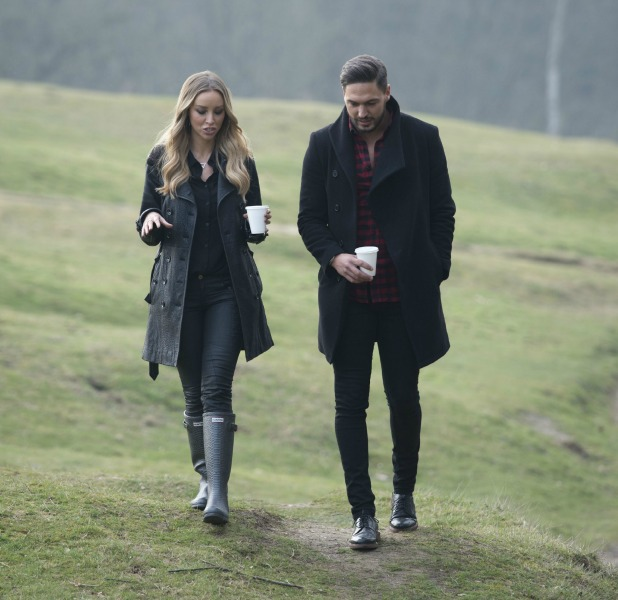 The Only Way is Essex' cast filming, Britain - 17 Mar 2015 Mario Falcone and Lauren Pope