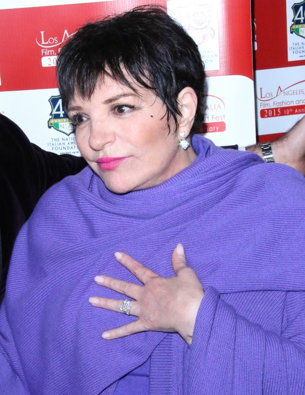 Liza Minnelli at Los Angeles Italia closing night ceremony at TCL Chinese 6 Theatres - Arrivals, 2015
