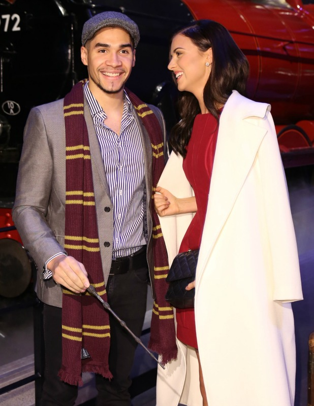 Lucy Mecklenburgh and Louis Smith at Harry Potter Studio Tour launches Hogwarts Express and Platform 9 3/4, 17 March 2015