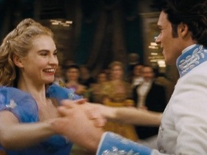 Cinderella stars Lily James and Richard Madden talk about the fairytale movie in this exclusive clip - 27 March 2015.