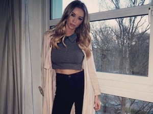 TOWIE's Lauren Pope continues her stylish steak and wears own design!