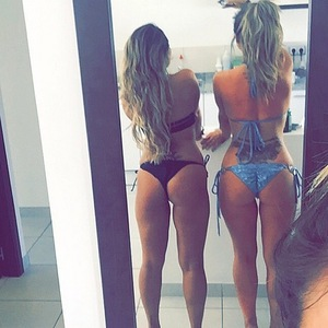 Holly Hagan and Sophie Kasaei take a belfie on holiday, Instagram 24 March
