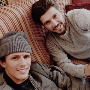 Jake Hall and Dan Edgar filming for TOWIE in Wales, Twitter 25 March