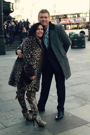 EastEnders' Jessie Wallace & Shane Ritchie pictured filming in London - 22 March 2015.