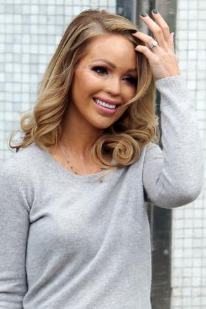 Katie Piper, outside the ITV studios, 3 February 2015