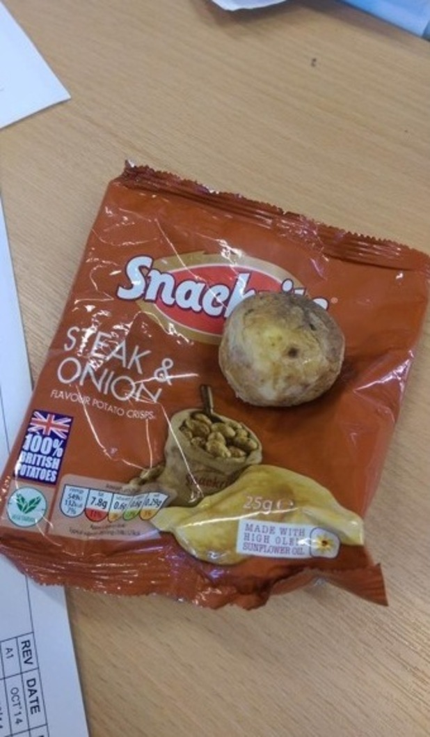 Shot of the potato found in crisp packet