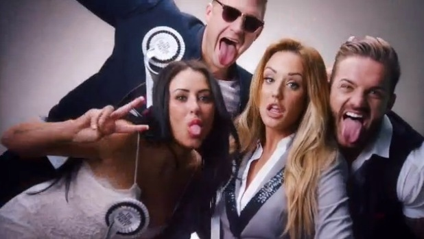 Charlotte Crosby, Scott Timlin, Aaron Chalmers and Marnie Simpson in the new trailer for Geordie Shore, MTV 25 March