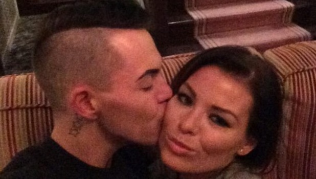 Bobby Norris and Jessica Wright in Wales for TOWIE filming, Twitter 23 March