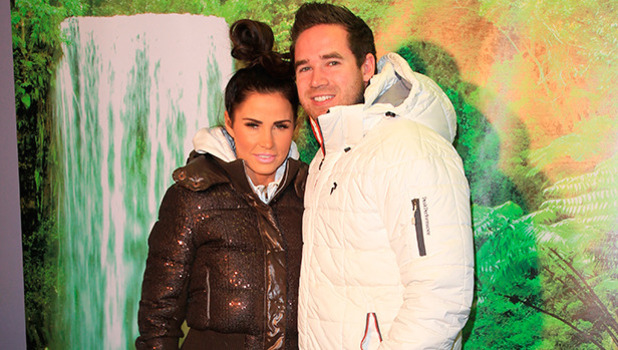 Katie Price and Kieran Hayler at Thorpe Park: I'm A Celebrity Get Me Out of Here! Maze - launch party, 26 March 2015