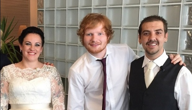 Ed Sheeran surprises Australian couple on their wedding day, Instagram 26 March