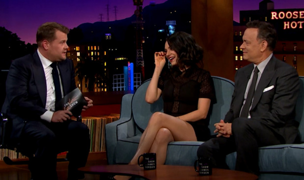 James Corden premieres as the host for 'The Late Late Show with James Corden with Mila Kunis and Tom Hanks - 23/3/2015.