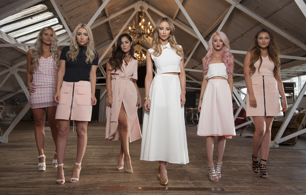 Lauren Pope with bloggers for In The Style collection