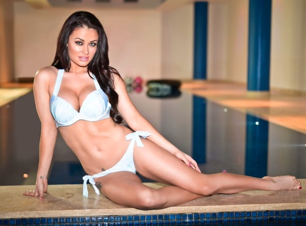 Jess Impiazzi models In The Style's swimwear range for Spring/Summer 2015 25 March