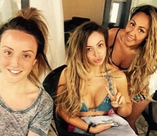 Charlotte Crosby, Holly Hagan and Sophie Kasaei on holiday together, Instagram 25 March