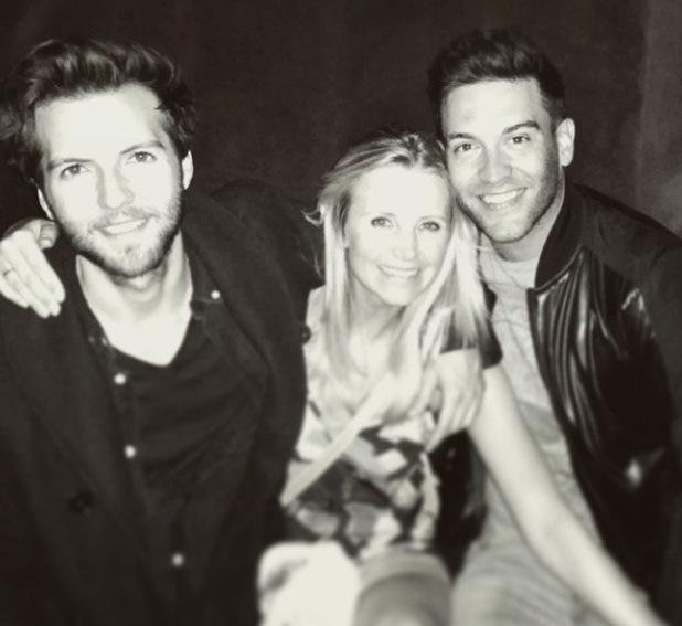 Ex Hollyoaks stars Carley, Kevin and Guy reunite in Los Angeles - 25 March 2015.