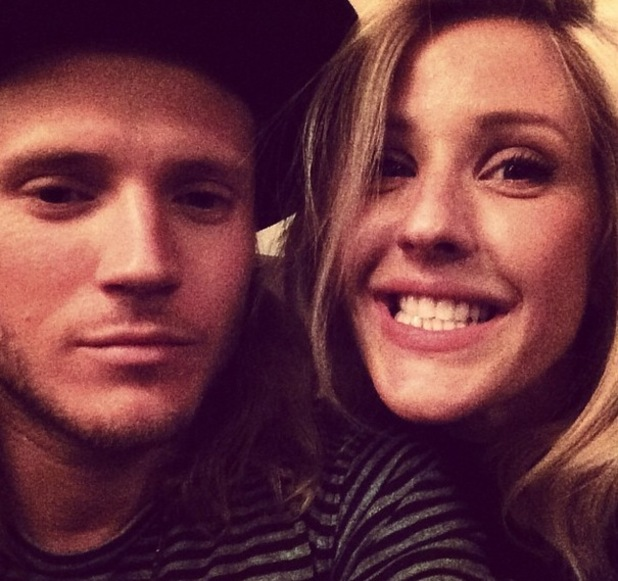 Ellie Goulding and Dougie Poynter take a selfie, Instagram 20 March
