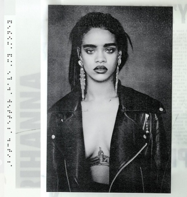 Rihanna poses braless in leather jacket as she drops surprise new single - 25 March 2015.