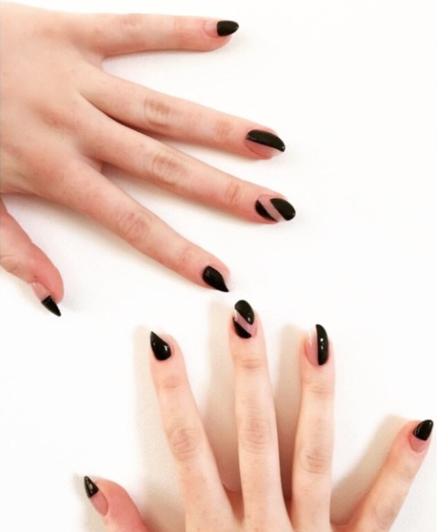 Jess Glynne's black and nude 'shapeshifter' nails, by Jenny Longworth, 25 March 2015