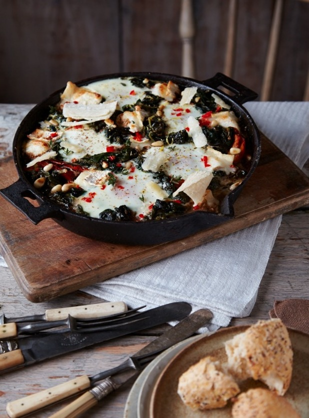 Balsamic and Goat's Cheese Baked Eggs