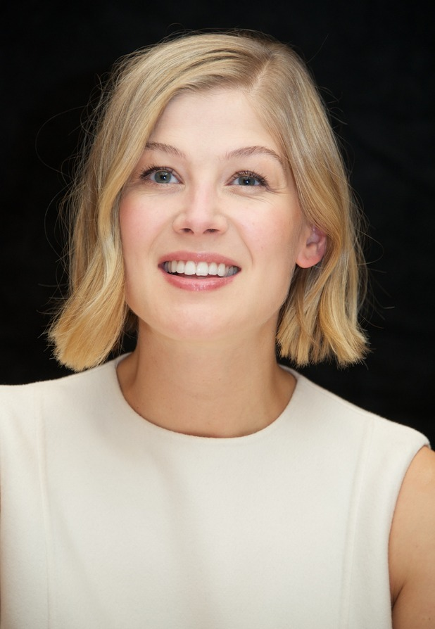 Rosamund Pike, who plays Gone Girl's Amy Dunne, at Gone Girl press conference. 7/9/14