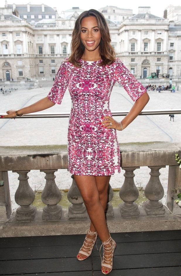 Rochelle Humes at her spring/summer Very catwalk show