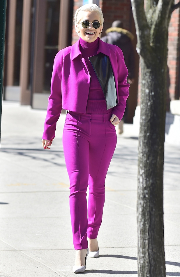 Rita Ora is seen in the West Village on March 23, 2015 in New York City.