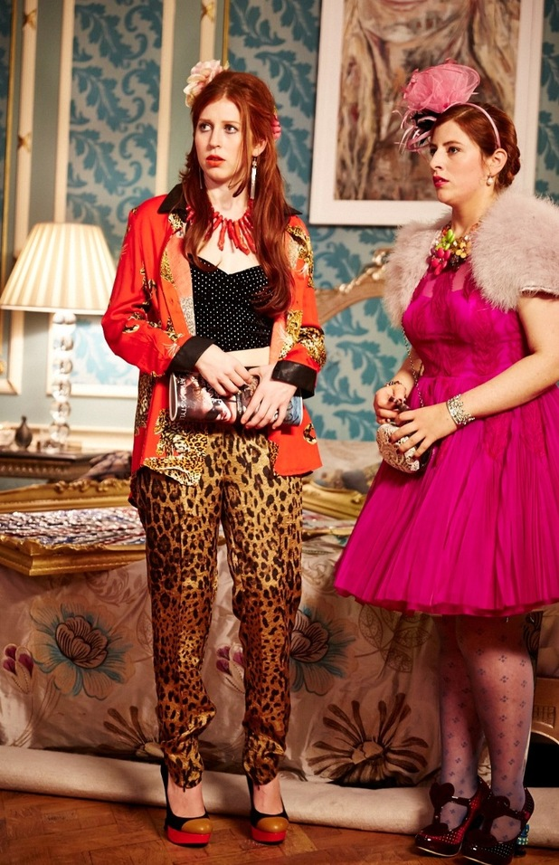Sisters Penelope and Maribel from The Royals