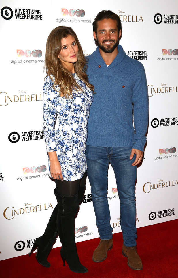 Lauren Frazer-Hutton and Spencer Matthews attend an exclusive preview screening of Disney's Cinderella hosted by Digital Cinema Media as part of Advertising Week Europe 2015 at the May Fair Hotel on March 24, 2015 in London, England.
