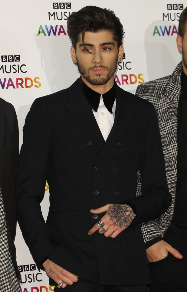 Zayn Malik at the BBC Music Awards 2014 held at Earls Court - Arrivals 12/11/2014 London, United Kingdom