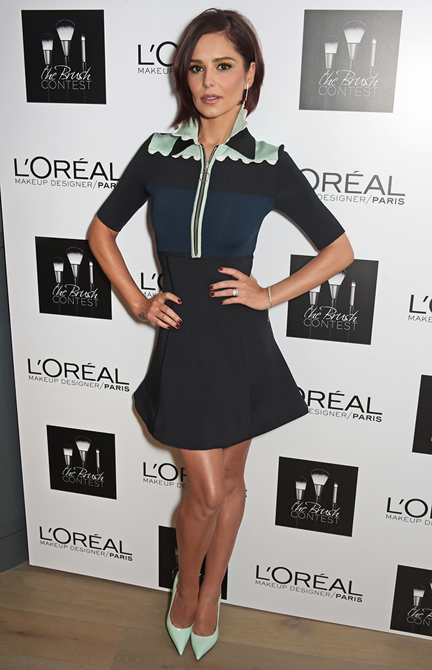 Cheryl Fernandez-Versini arrives for her judging role at L'Oreal Paris' makeup artist competition 'The Brush Contest' at the Mondrian Hotel on March 23, 2015 in London, England.