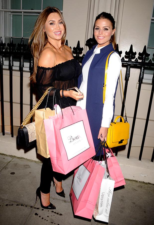 Boux Launch Summer Party, London, Britain - 26 Mar 2015 TOWIE's Chloe Lewis and Lauren Goodger